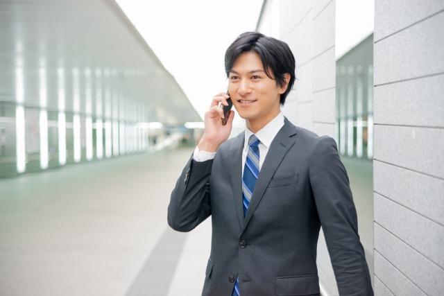 ビジネスマン 電話